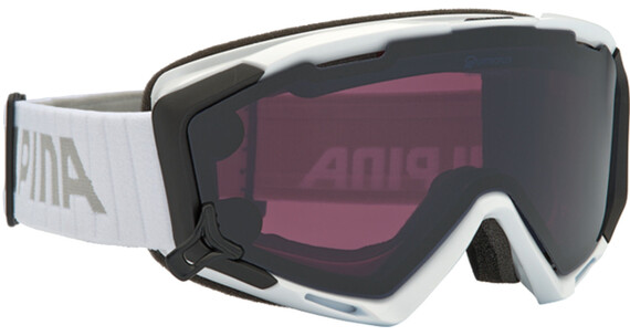 Alpina Panoma S Magnetic Q+S S1+S3 goggles wit/zwart